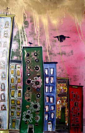 CITYSCAPE PAINTING BY ALICE MIZRACHI